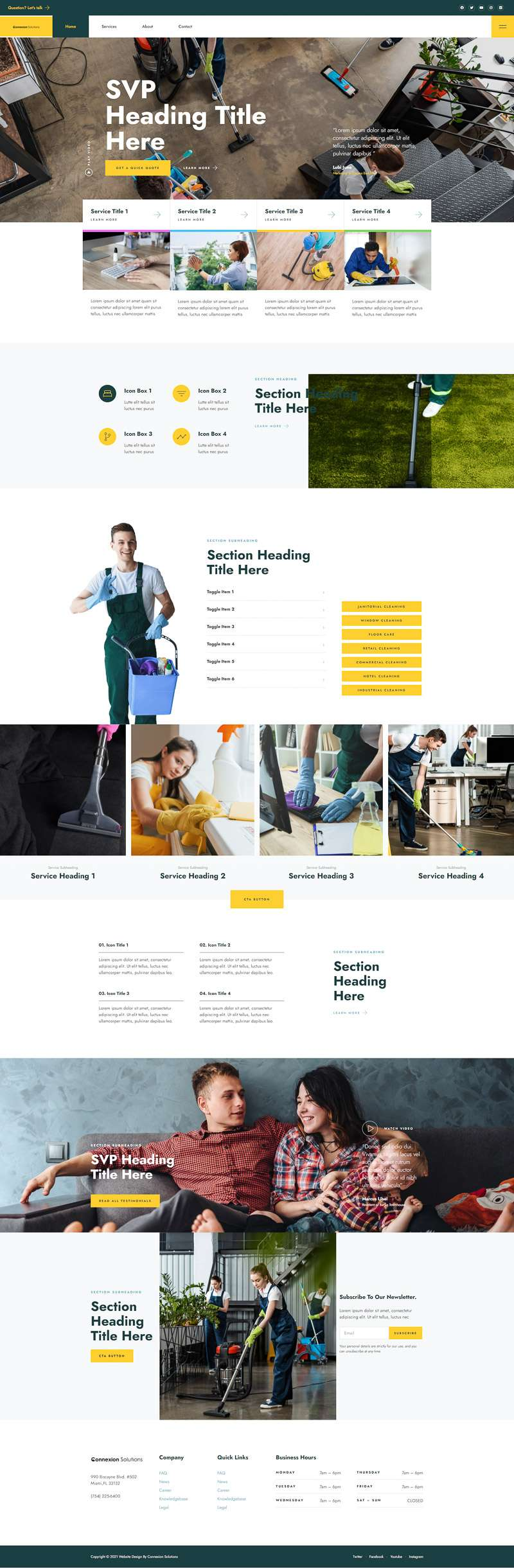 Website Design and Development Portfolio for Cleaning Services